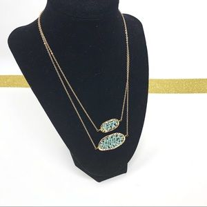 NEW Panacea Blue Crystal Over Layered Necklace